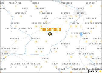 map of Niedanowo