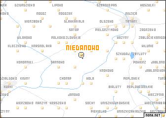 map of Niedanowo