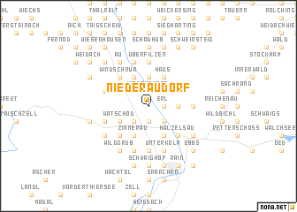 map of Niederaudorf