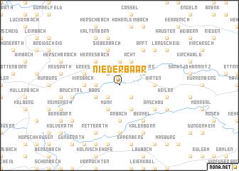 map of Niederbaar