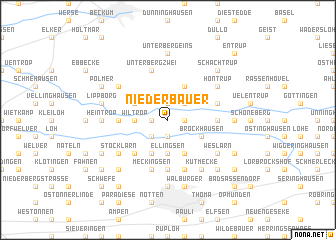 map of Niederbauer
