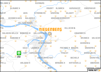 map of Niederberg