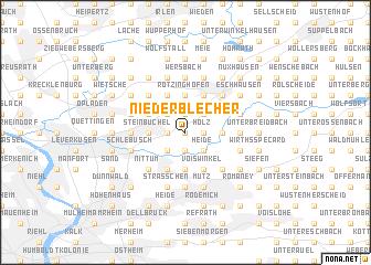 map of Niederblecher