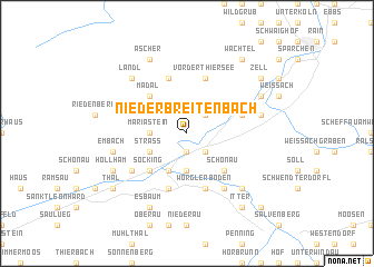 map of Niederbreitenbach