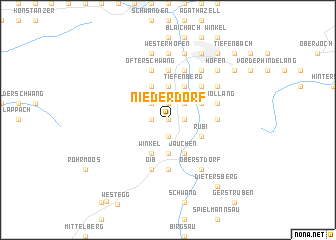 map of Niederdorf