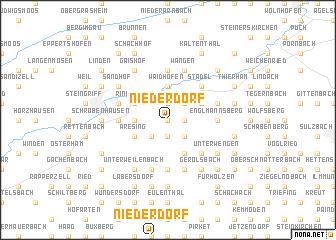 map of Niederdorf