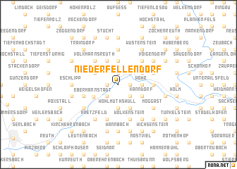 map of Niederfellendorf