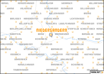 map of Niedergandern