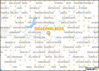 map of Niederhalberg