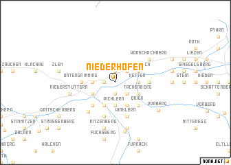 map of Niederhofen