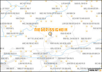 map of Niederissigheim