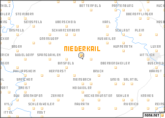 map of Niederkail