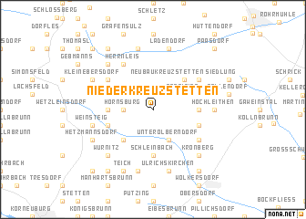 map of Niederkreuzstetten