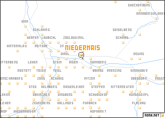 map of Niedermais