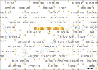map of Niedermirsberg