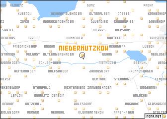 map of Nieder Mützkow