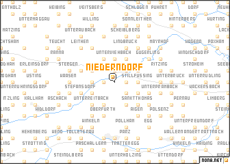 map of Niederndorf