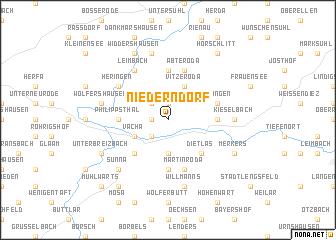 map of Niederndorf