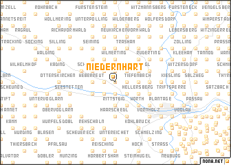 map of Niedernhart