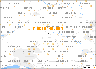 map of Niedernhausen