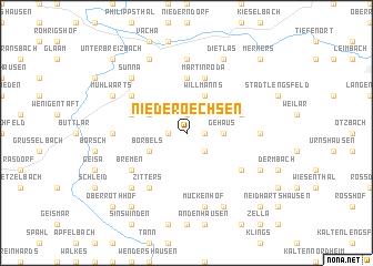 map of Niederoechsen