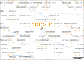 map of Nieder Ohmen