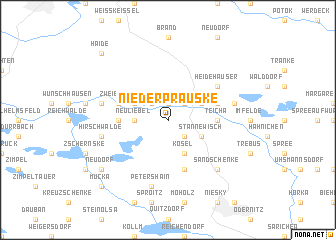 map of Nieder Prauske