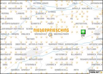 map of Niederpriesching