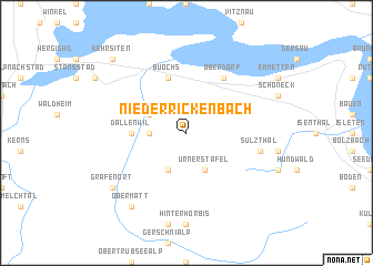 map of Niederrickenbach