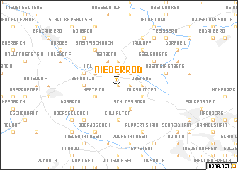 map of Niederrod