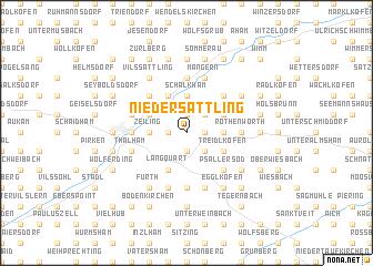map of Niedersattling