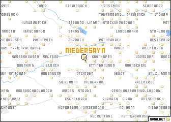 map of Niedersayn