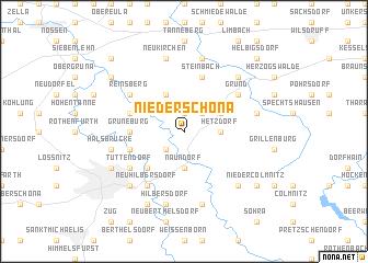 map of Niederschöna