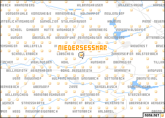 map of Niederseßmar