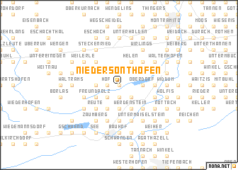 map of Niedersonthofen