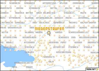 map of Niederstaufen