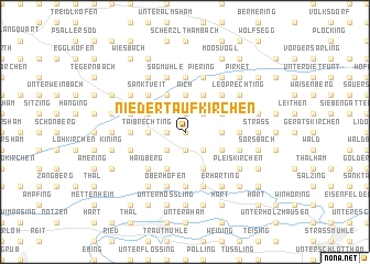 map of Niedertaufkirchen