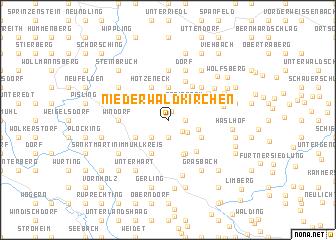 map of Niederwaldkirchen