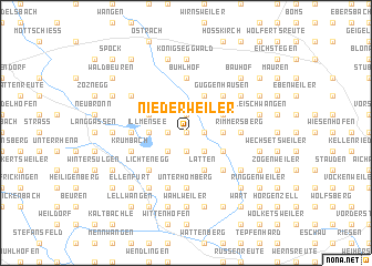 map of Niederweiler