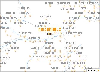 map of Niederwölz