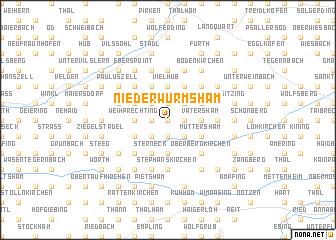 map of Niederwurmsham