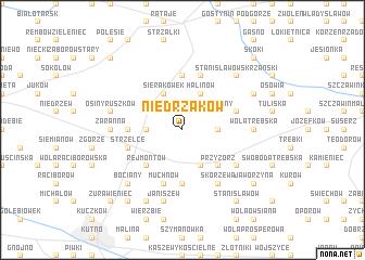 map of Niedrzaków