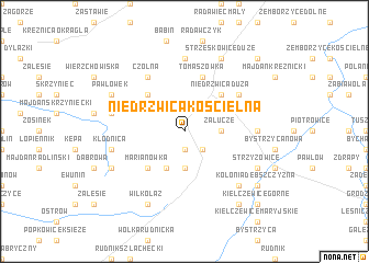 map of Niedrzwica Kościelna