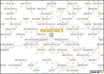 map of Niedrzwice