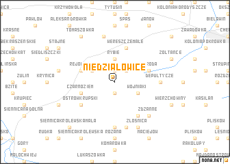 map of Niedziałowice
