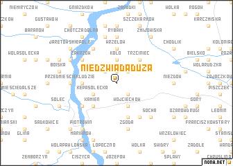 map of Niedźwiada Duża