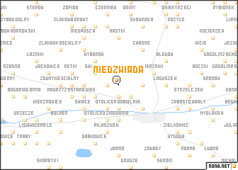 map of Niedźwiada