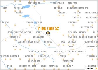 map of Niedźwiedź