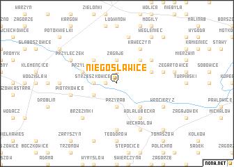 map of Niegosławice