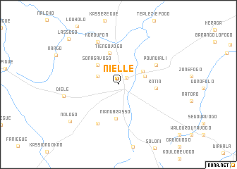 map of Niellé